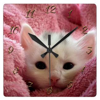 Horloge Carrée Minou doux