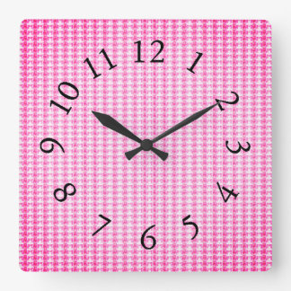 Horloge Carrée Minuscule-Floral-Rose-Multi-Styles