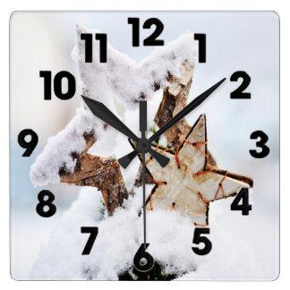 Horloge Carrée motif 025 d'hiver