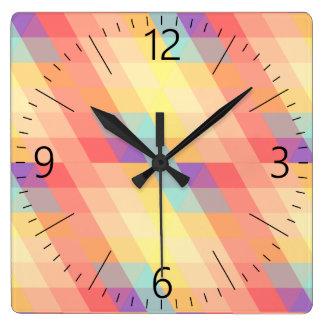 Horloge Carrée Motif coloré