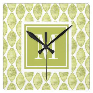 Horloge Carrée Motif de fleurs de Hygge