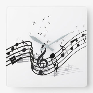 Horloge Carrée Musique