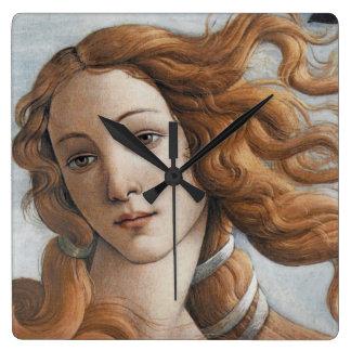 Horloge Carrée Naissance de fin de Vénus en détail