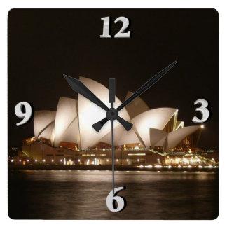 Horloge Carrée Nuit à l'opéra