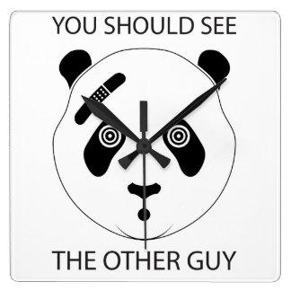 Horloge Carrée Panda dur