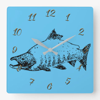 Horloge Carrée Pêche du magasin