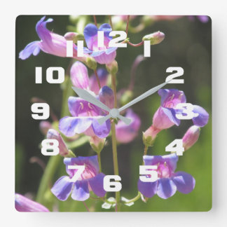 Horloge Carrée Penstemon voyant