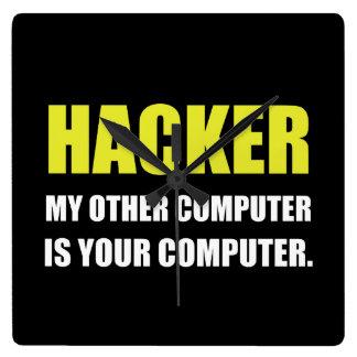 Horloge Carrée Pirate informatique l'autre votre ordinateur