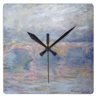 Horloge Carrée Pont de Claude Monet | Waterloo, Londres, au
