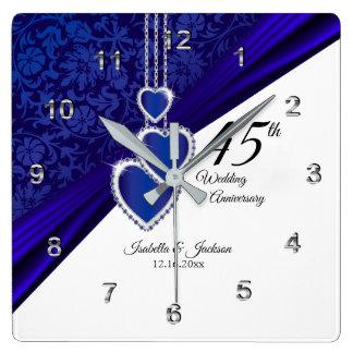 Horloge Carrée quarante-cinquième Souvenir d'anniversaire de
