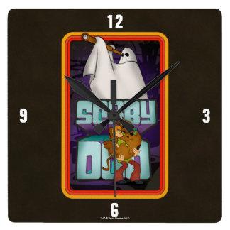 Horloge Carrée Recherche de fantôme de Scooby-Doo | hirsute et