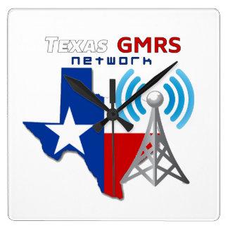Horloge Carrée Réseau du Texas GMRS - Wallclock