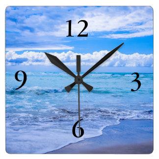 Horloge Carrée ressacs extraordinaires