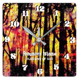 Horloge Carrée Reunion Island