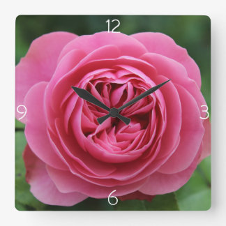 Horloge Carrée Rose Macro