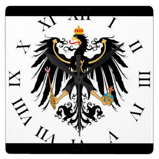 Horloge Carrée Royaume drapeau national de Prusse
