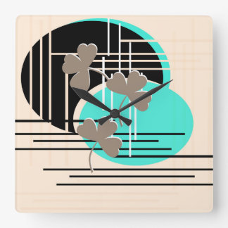 Horloge Carrée Saint Patrick, abstraction