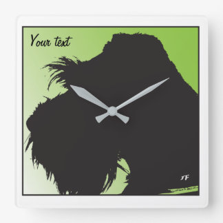 Horloge Carrée Schnauzer