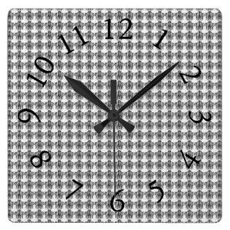 Horloge Carrée Sensible-Conservateur-Gris-Multi-Styles