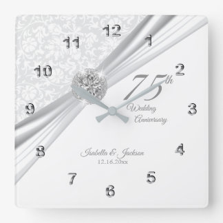 Horloge Carrée soixante-quinzième ou soixantième souvenir