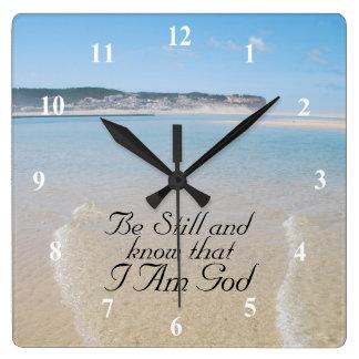 Horloge Carrée Soyez toujours et sachez que JE SUIS 46:10 de