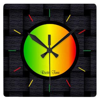 Horloge Carrée Temps de Rasta