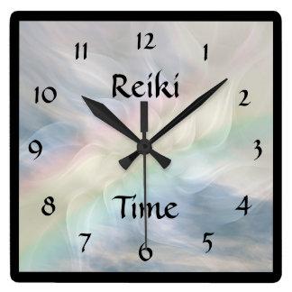 Horloge Carrée Temps de Reiki