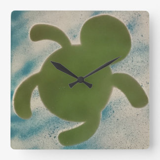 Horloge Carrée Temps de tortue
