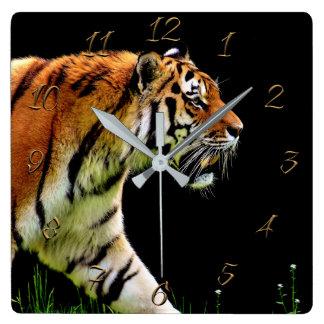 Horloge Carrée Tigre
