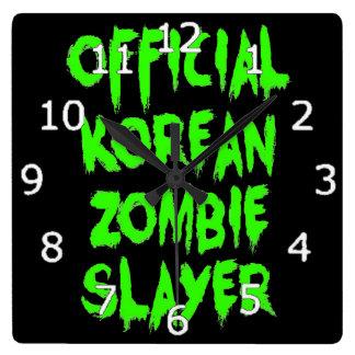 Horloge Carrée Tueur coréen officiel de zombi