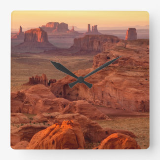 Horloge Carrée Vallée de monument pittoresque, Arizona