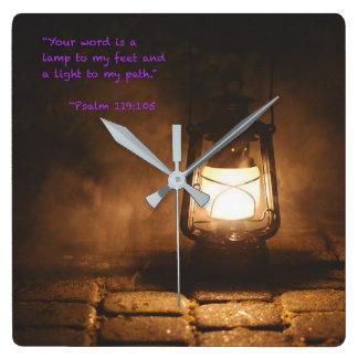 Horloge Carrée Votre mot est une lampe