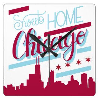 horloge Chicago à la maison douce