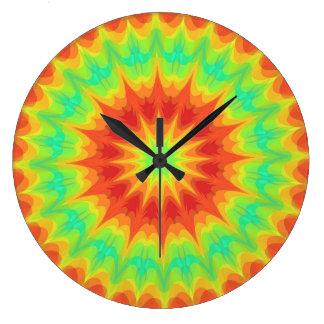 Horloge colorée de colorant de cravate