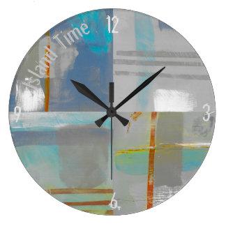 Horloge côtière de temps rond d'île
