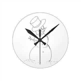 horloge de bonhomme de neige