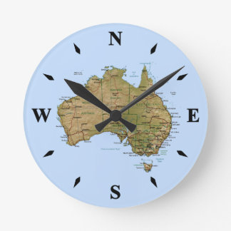 Horloge de carte de l'Australie
