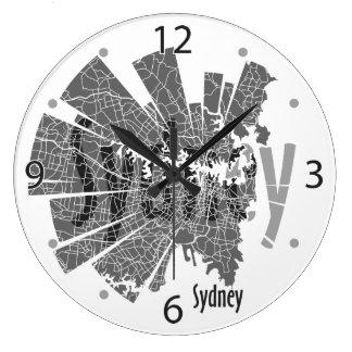 Horloge de carte de Sydney