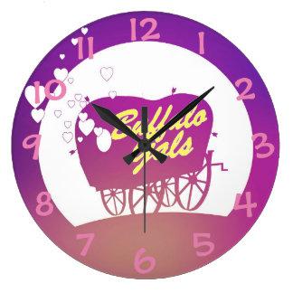 Horloge de chariot de gallons de Buffalo