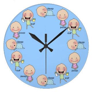 Horloge de crèche de Manger-Sommeil-Dunette-Bébé