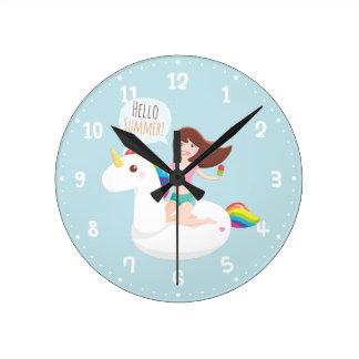 Horloge de décor de pièce de mur de flotteur de