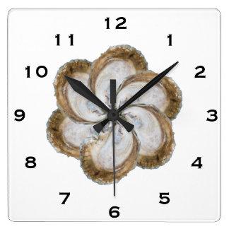 Horloge de fleur d'huître - conception C
