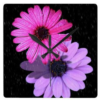 Horloge de goutte de pluie de fleur