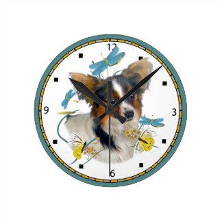 Horloge de libellule de Papillon