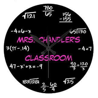 Horloge de maths de tableau de salle de classe de