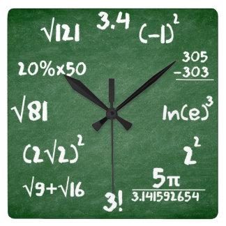 Horloge de maths pour des amants de mathématiques