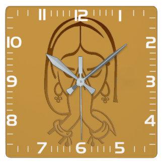 """Horloge de mur carrée «Proposition """""""