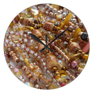Horloge de mur Earthtones naturel, copie en bronze