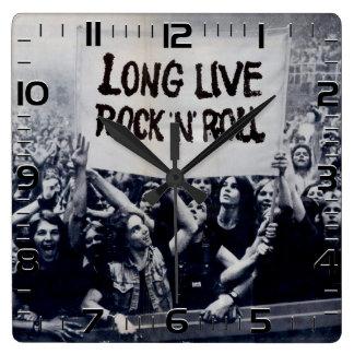"Horloge de mur «Long Live Rock N Roll """
