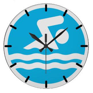 Horloge de natation pour la piscine ou le bureau